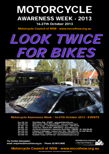 MAW poster - Look twice for bikes
