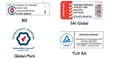 Approved AS/NZS1698 Labels