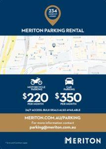 Meriton Sydney motorcycle parking